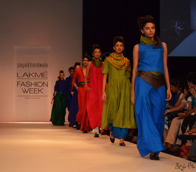 lakme fashion week payal khandwala mojris jewel tones blue green
