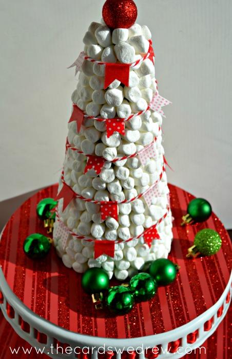 hot cocoa bar marshmallow christmas tree decor - Christmas Marshmallows