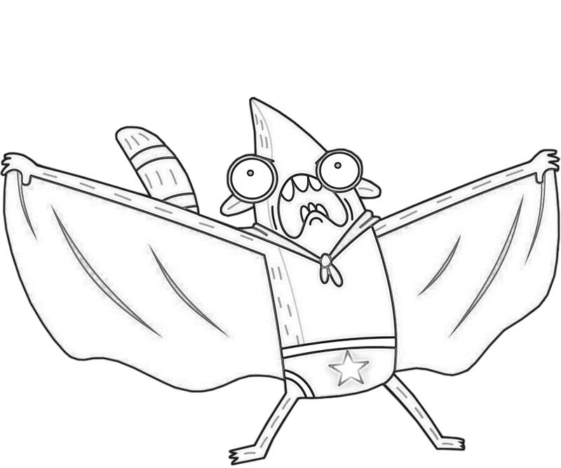 rigby-superhero-coloring-pages