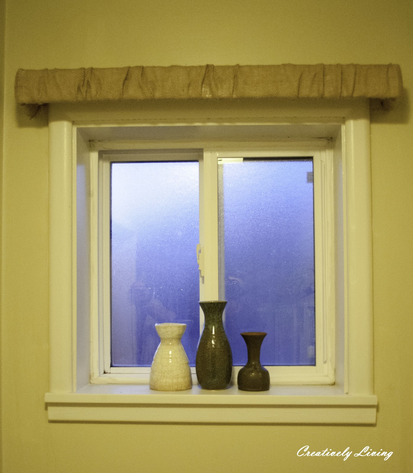 Creatively Living The Simple Window Treatment