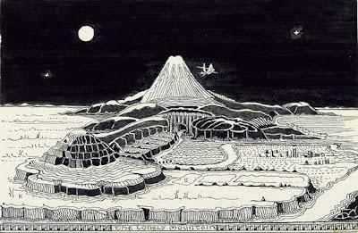 dibujo de tierra media de tolkien en 75 aniversario