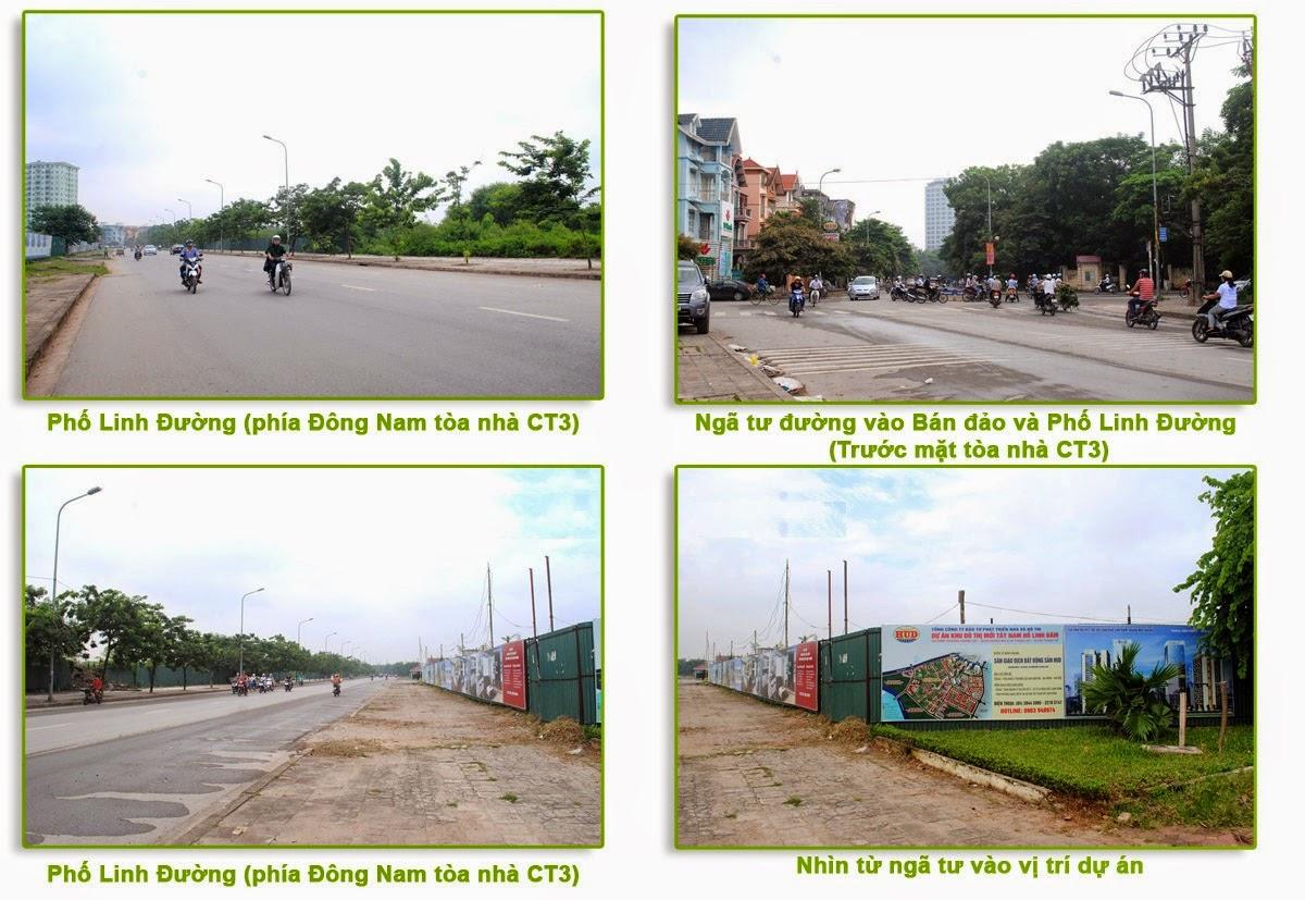 Giao thông tòa Chung Cư CT3 Linh Đàm