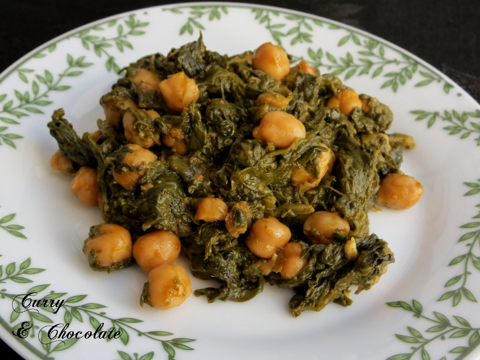Cooking in english o intent ndolo spinach with - Garbanzos con chorizo y espinacas ...