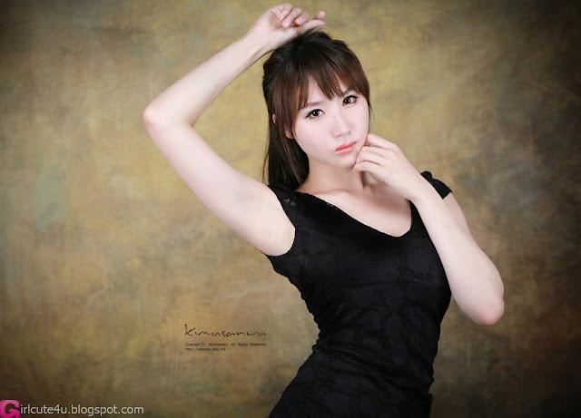 1 Yeon Da Bin in Black-Very cute asian girl - girlcute4u.blogspot.com