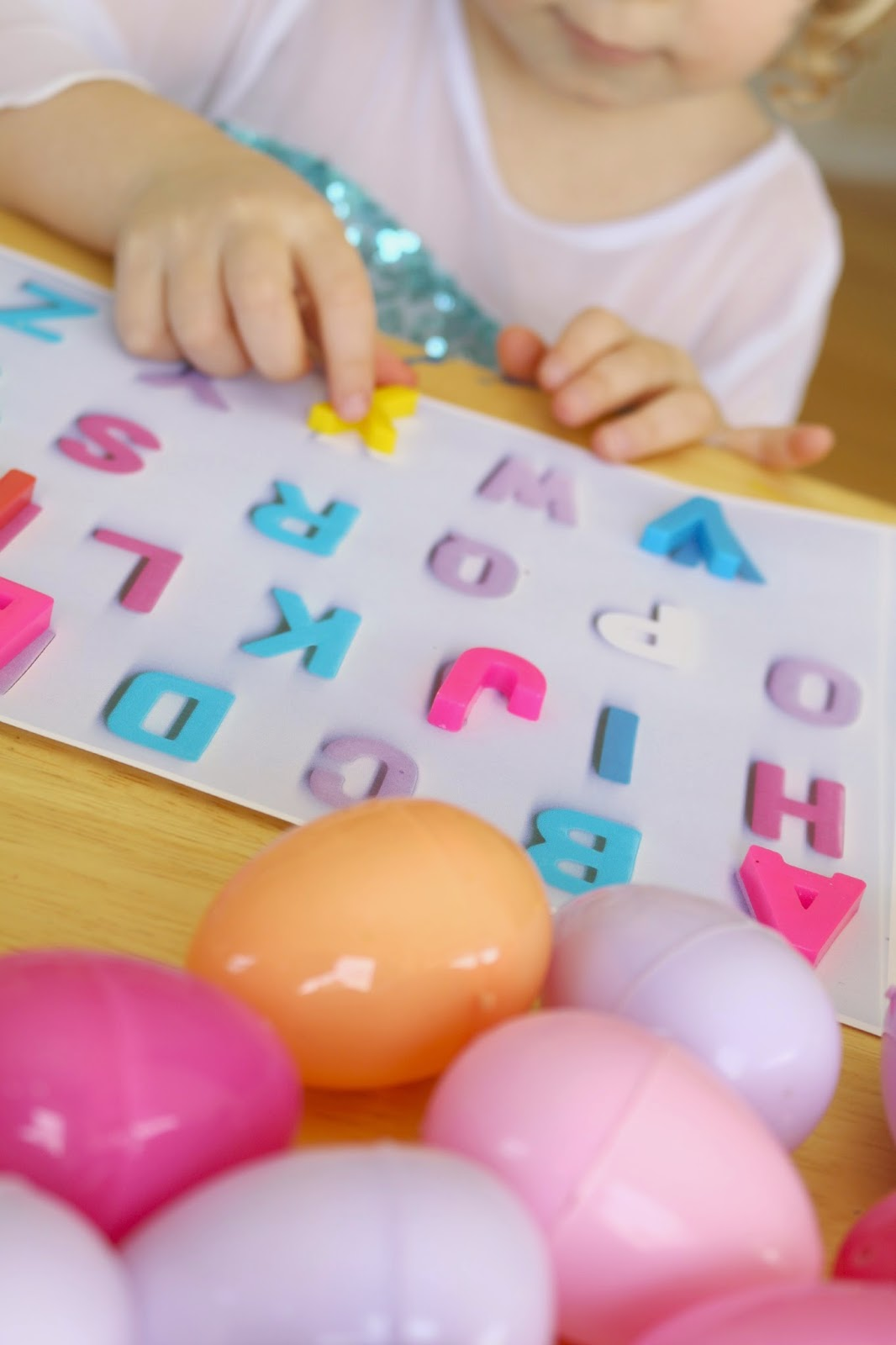 easter letter recognition activity for preschoolers