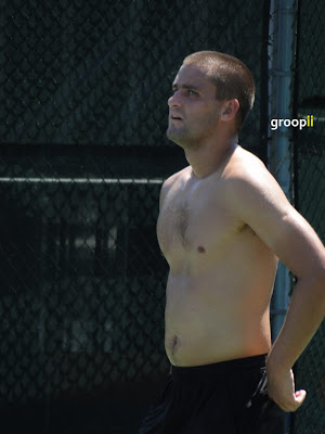 Mikhail Youzhny Shirtless at Cincinnati Open 2010