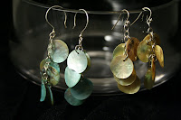 Gypsy earrings - sterling silver, mother of pearl :: All the Pretty Things