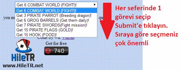 Dragon City Korsan Adası Görevi Hilesi Proxy'siz