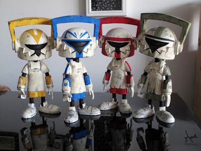 San Diego Comic-Con Exclusive 2011 Star Wars Clone Trooper Custom Hi-Def Vinyl Figures by Keithing (Keith Poon)