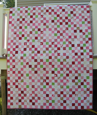 Postage Stamp Quilt ~ Finished!