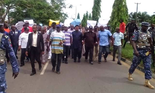 Mass Protest That Took Place In Akwa-Ibom Today