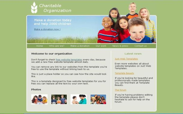 Free Green Charity Foundation CSS Web Template