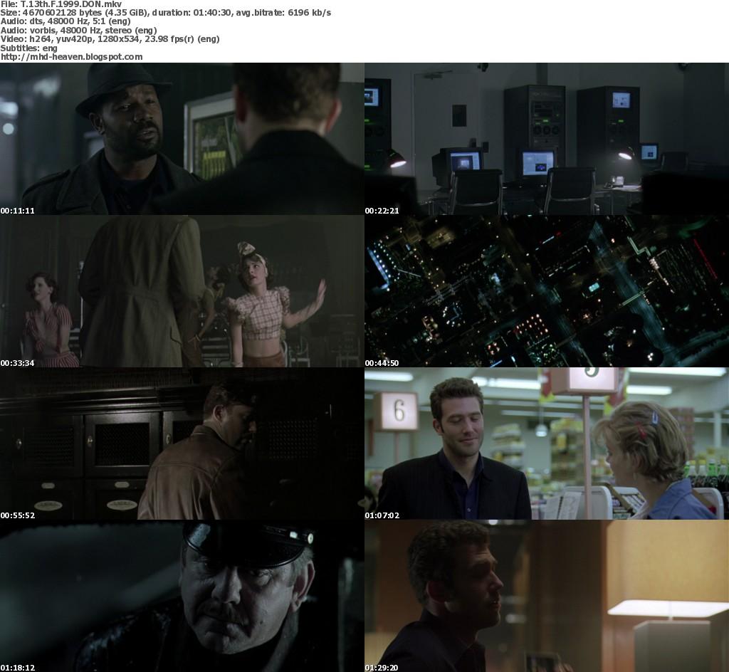 The thirteenth floor 720p bluray dts x264 1999 for 13th floor movie online