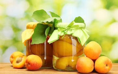 Duraznos en almíbar - Apricot compot - Frutas deliciosas