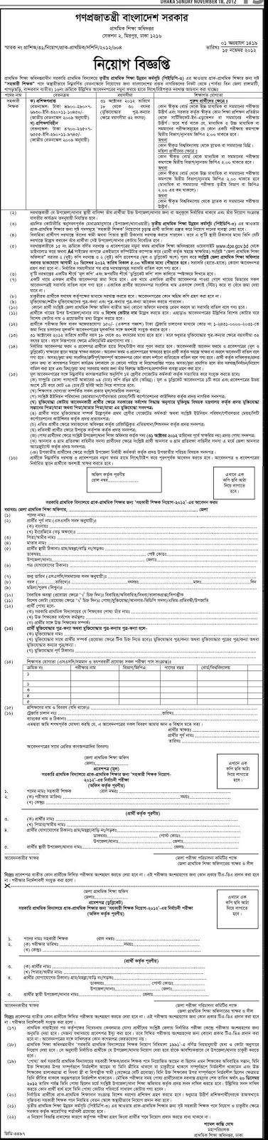 Primary Education Recruitment-2012