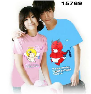 grosir kaos couple love your enemies