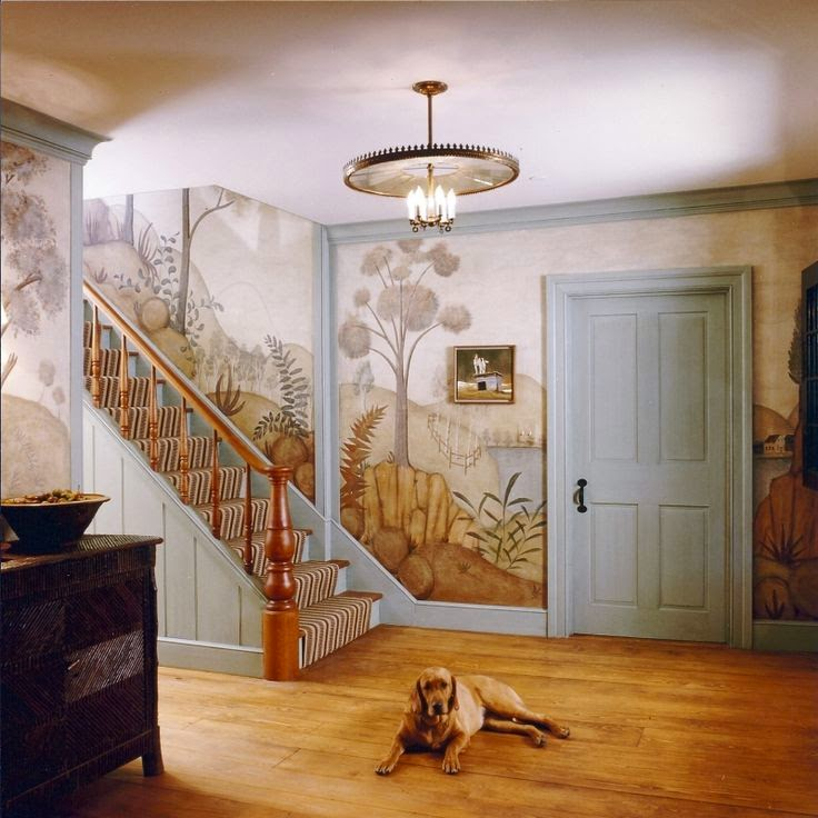 Eye for design decorate with primitive colonial murals for Colonial mural wallpaper