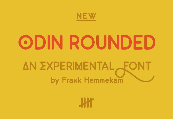 Odin round font