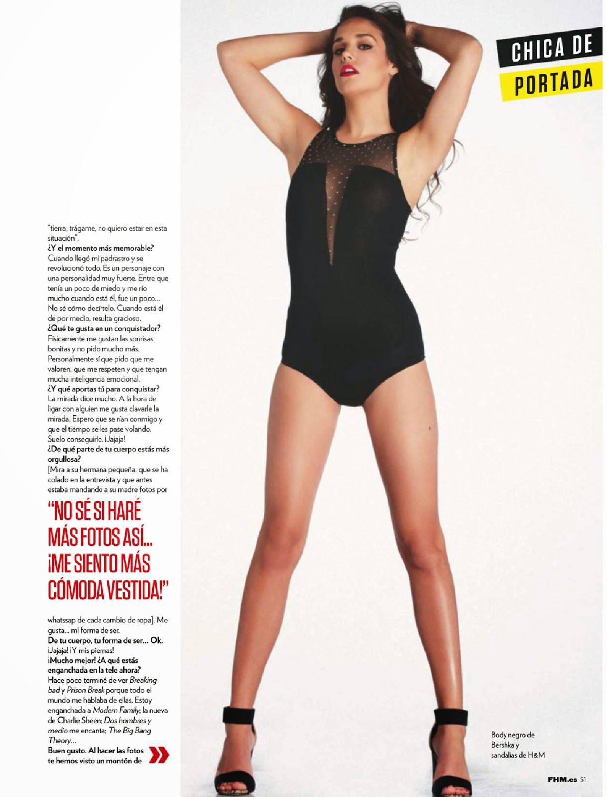 Laura Parejo For FHM Magazine, Spain, June 2014