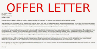 Offer Letters Of Employment Samples Business Letters