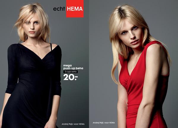 Andreja Pejic: campanha de lingerie
