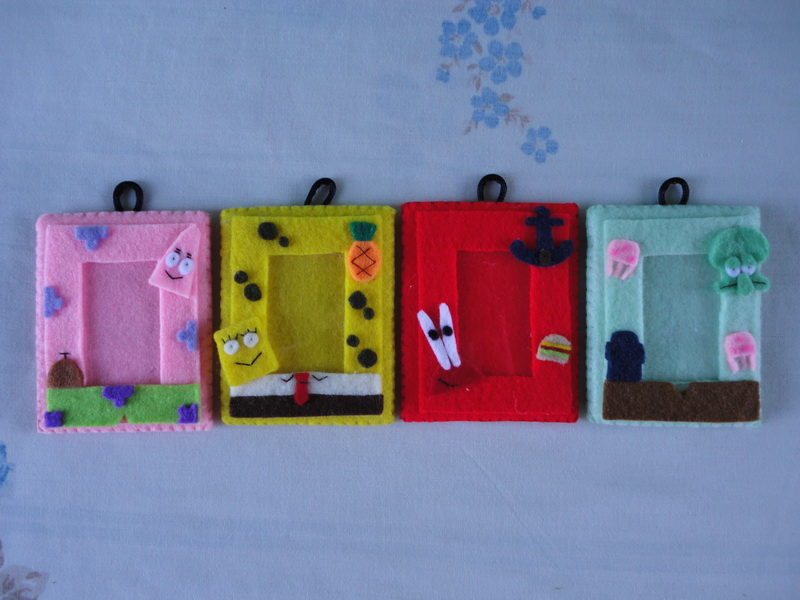 FRAME FOTO FLANEL SPONGE BOB AND FRIENDS