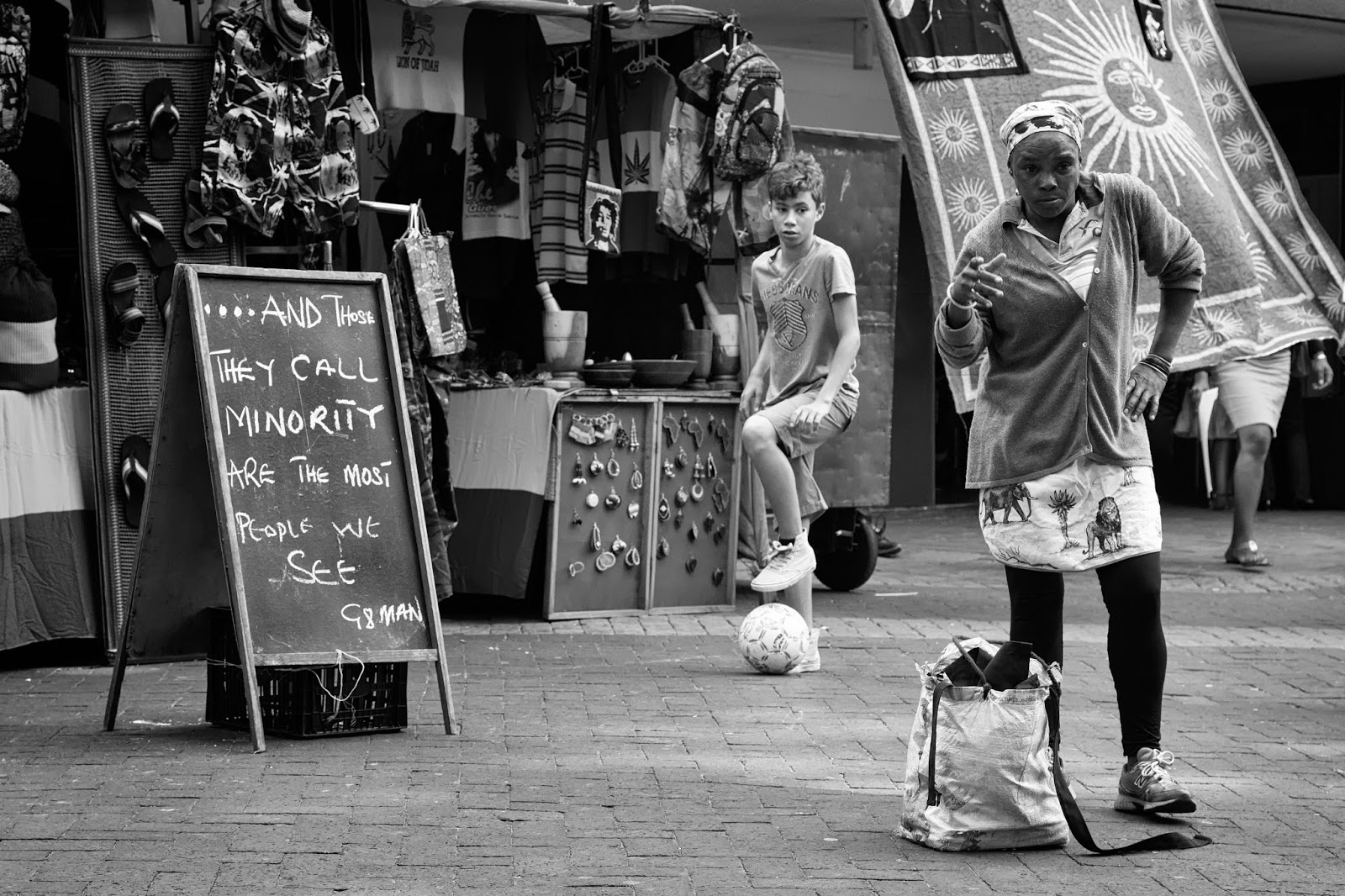 Black and white street photography from South Africa