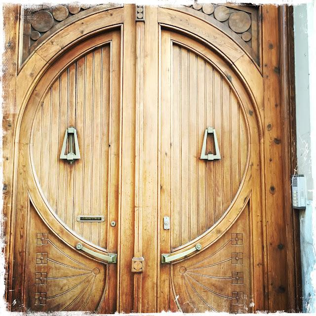 Beautiful Wooden Door With Lovely Knockers
