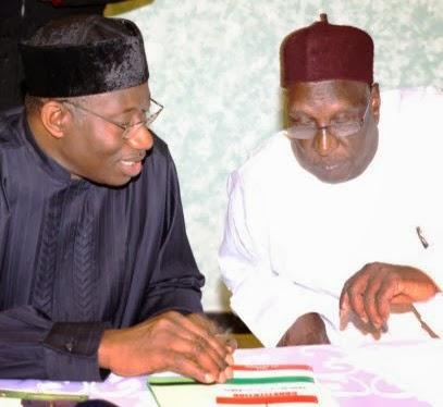 President Gudluck Jonathan and Tukur