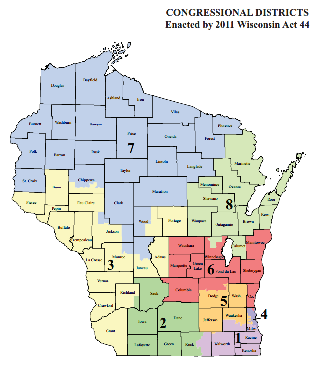 Retiring Guy39s Digest Wisconsin Congressional Districts