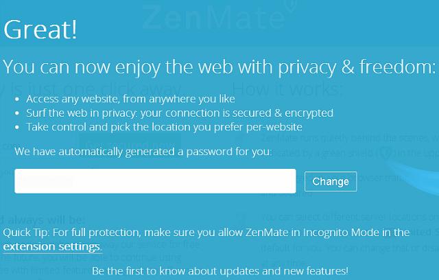 Cambio de clave de ZenMate