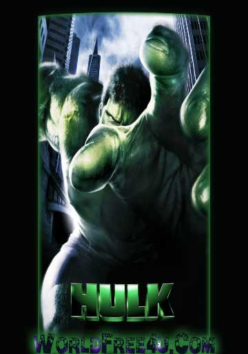 Poster Of Hulk (2003) In Hindi English Dual Audio 300MB Compressed Small Size Pc Movie Free Download Only At worldfree4u.com