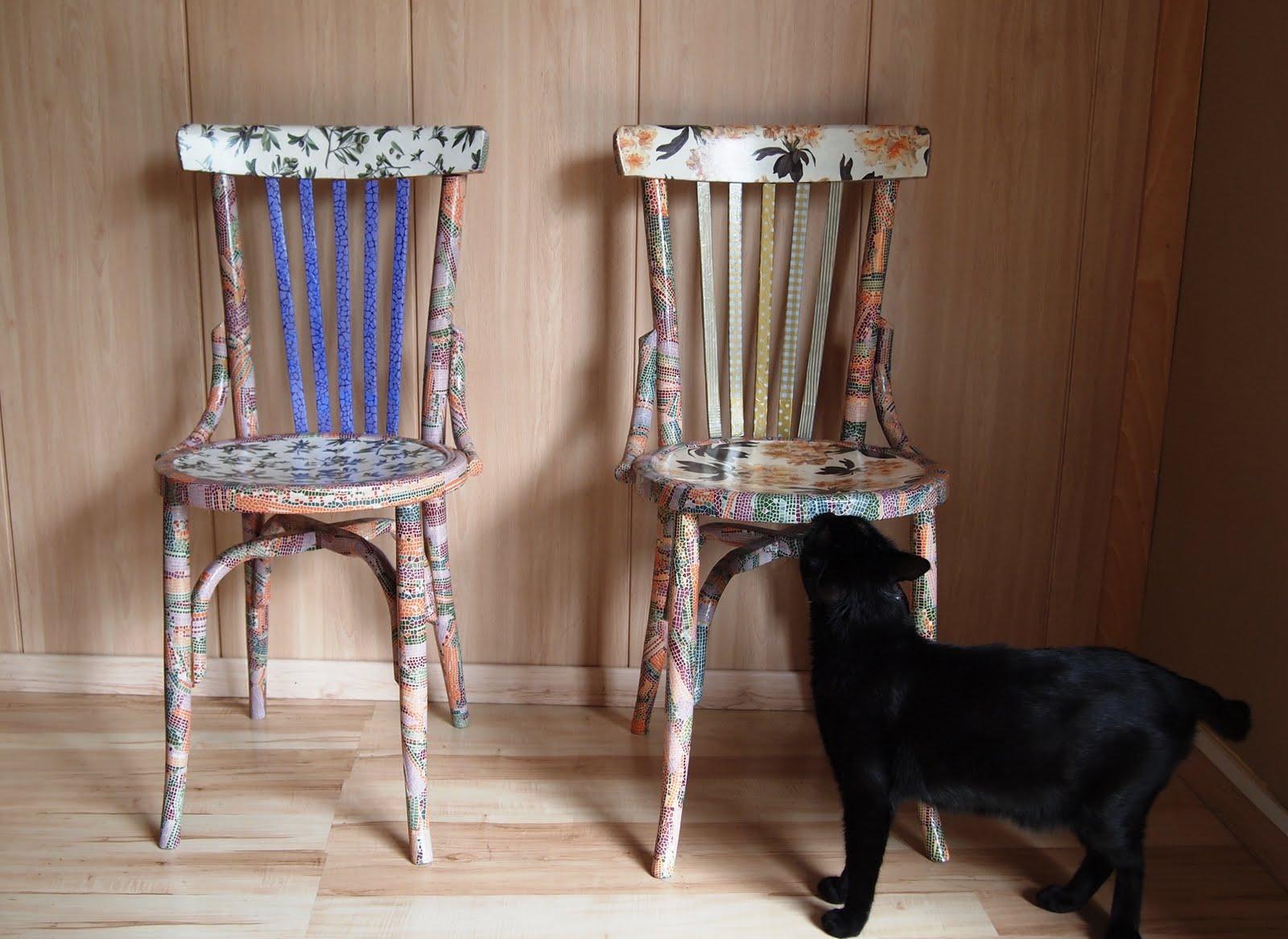 El placer del hacer sillas decoupage - Sillas de plastico ikea ...