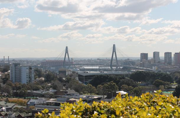 Sydney, Anzac bridge, Australia