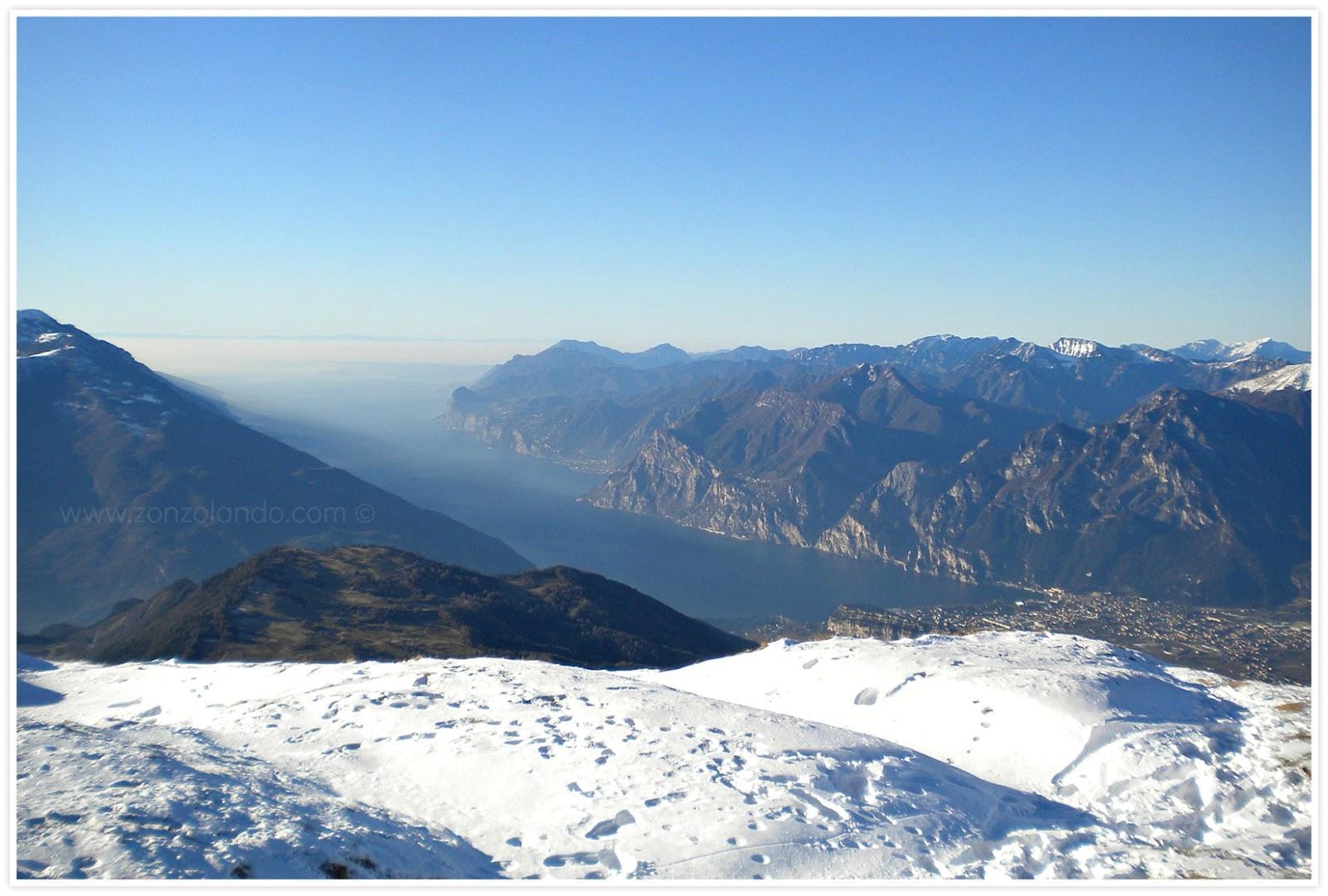 Monte Stivo Lago di Garda come arrivare panorama mozzafiato