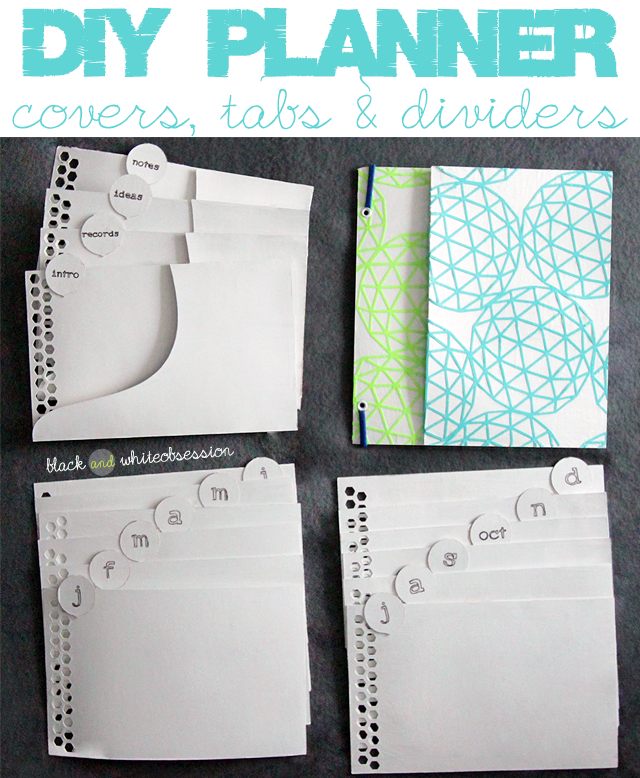 11 diy binder iders black and white obsession organize this