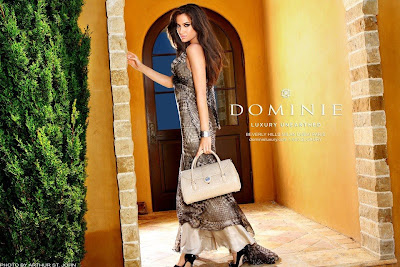 Donna Feldman, my super model sister debuts new luxury purse ad