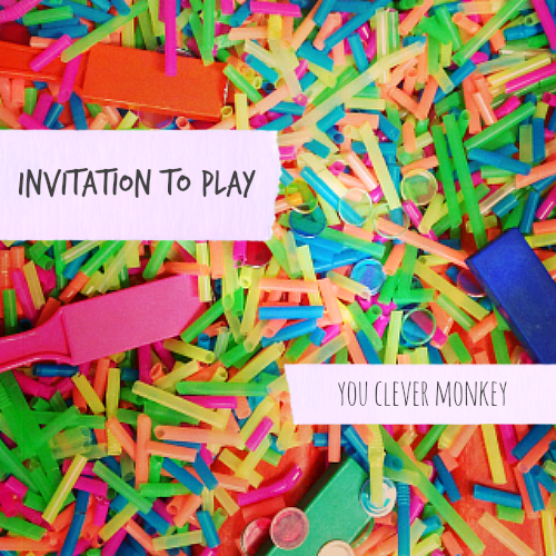 invitation to play straws magnets and colours you clever monkey
