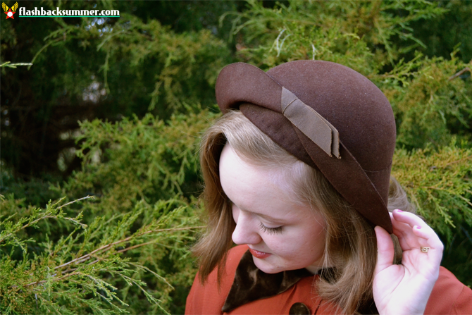 Flashback Summer: 1930s Thanksgiving Outfit - hat