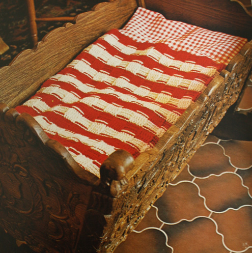 Vintage crochet blanket pattern, basket stitch | Happy in Red