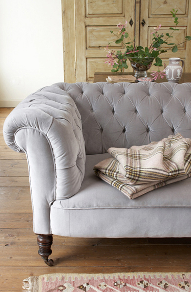ashley furniture grey tufted sofa
