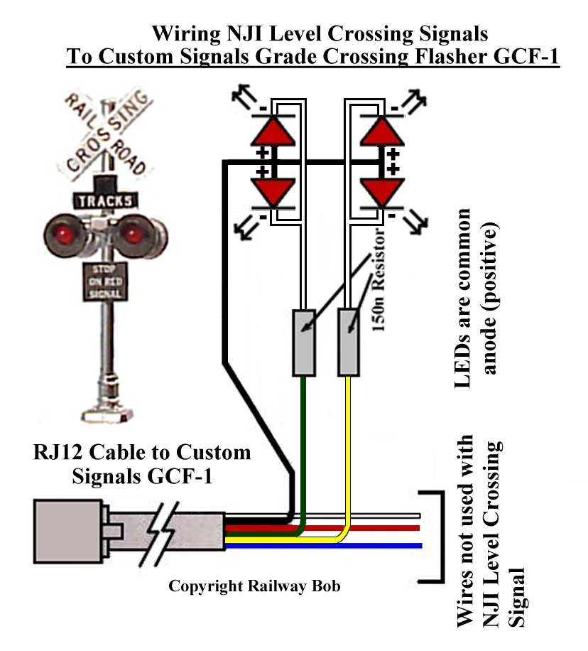 railway bob s module building tips grade crossing signals for ho rh railwaybobsmodulebuildingtips blogspot com wiring model railroad crossing signals wiring model railway signal lights