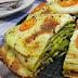 Tort naleśnikowy z pieczarkami, serem, brokułami i beszamelem