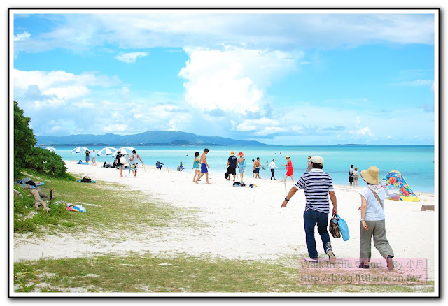 沙灘上的人群