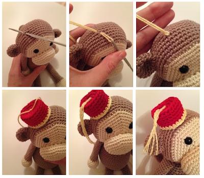 Cheeky Monkey Amigurumi Crochet Pattern : Heart & Sew: Cheeky Little Monkey - Free Crochet ...