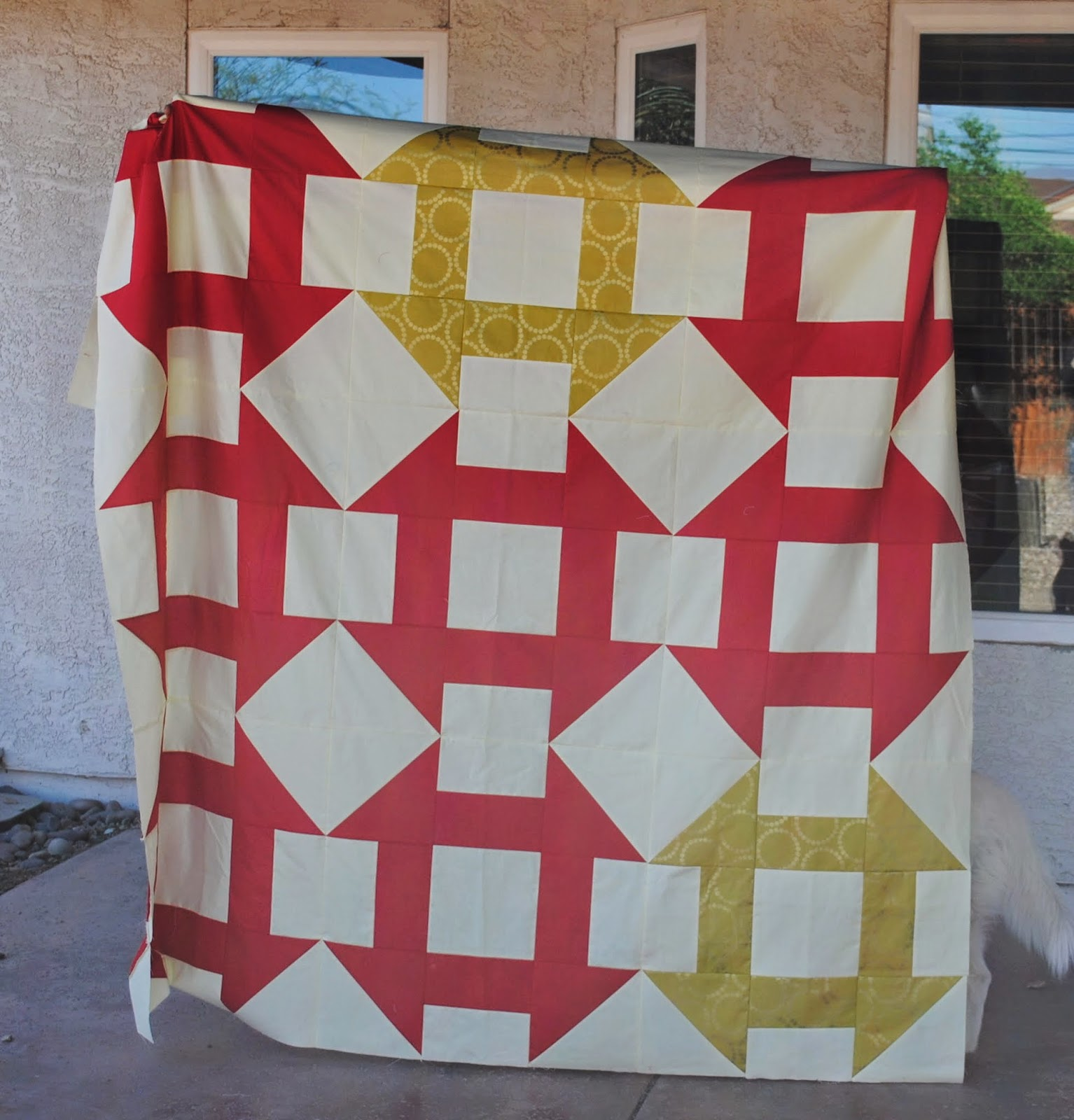 giant churn dash quilt