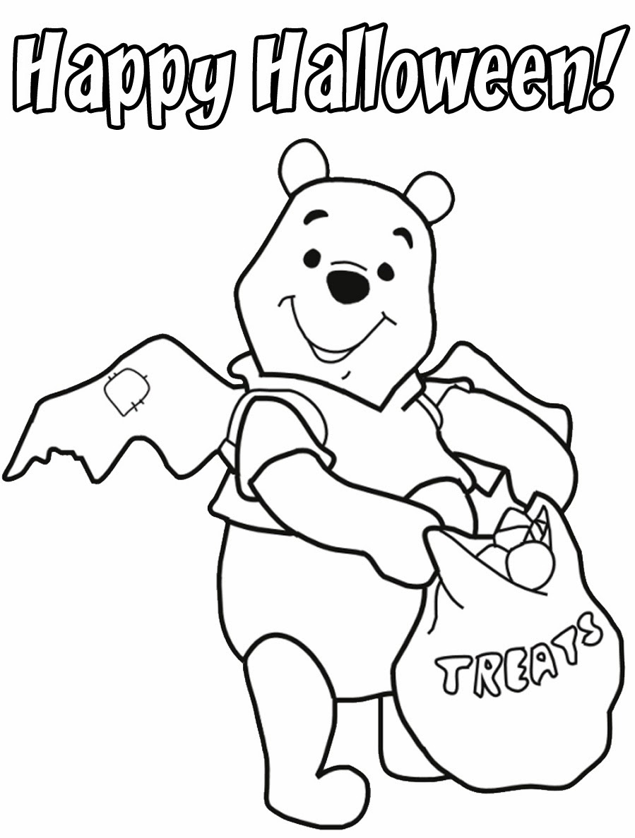 Disneys Winnie The Pooh Halloween Coloring Pages For You To Print And Color In
