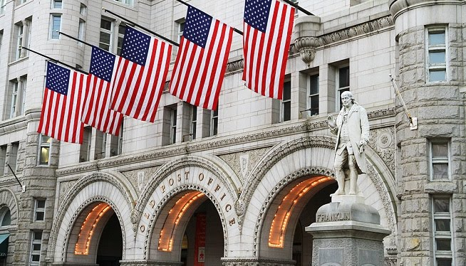 The Old U.S. Post Office, Now the New Trump International Hotel in D.C.