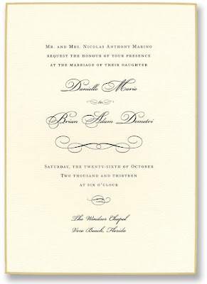 william arthur blog: swashes & scrolls | wedding, Wedding invitations