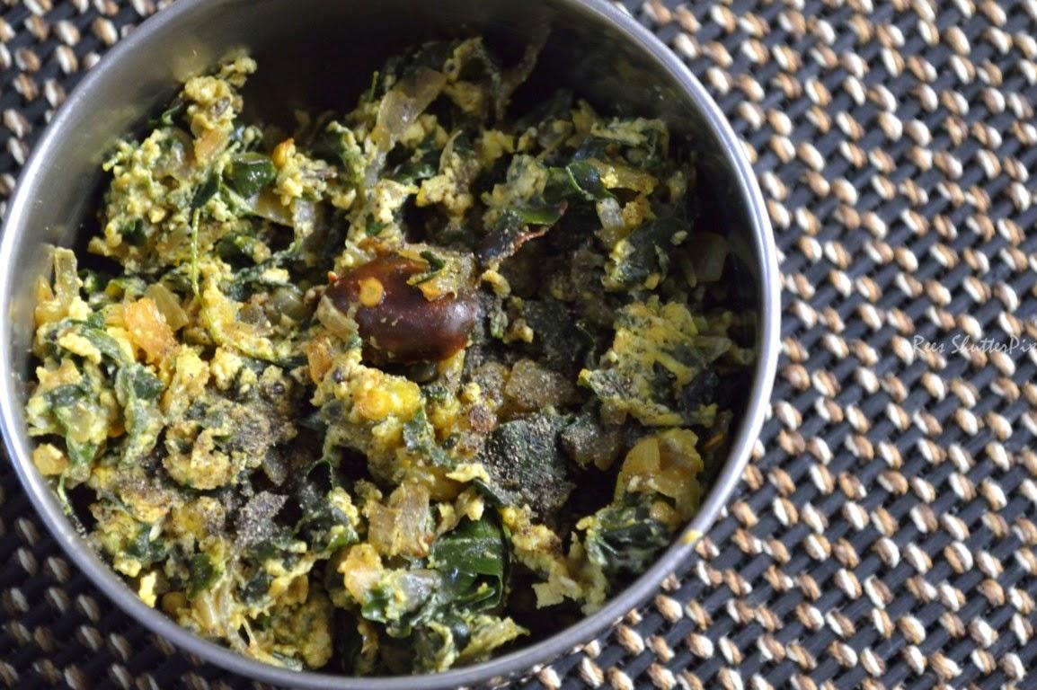 murungakeerai muttai poriyal recipe, murungakkerrai egg fry